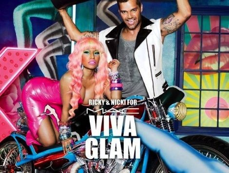 Ricky Martin y Nicki Minaj for MAC VIVA GLAM