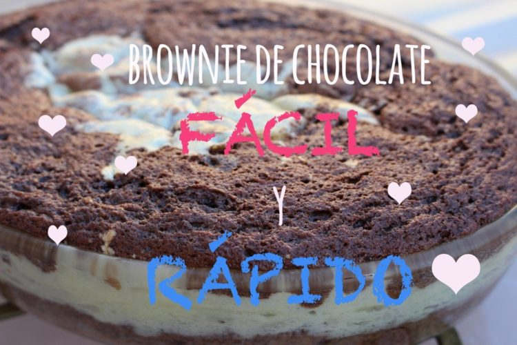 Brownie de chocolate con crema de queso: (FÁCIL)