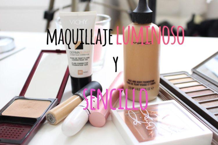 Maquillaje luminoso y sencillo