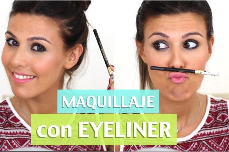 Maquillaje con eyeliner negro (FÁCIL)