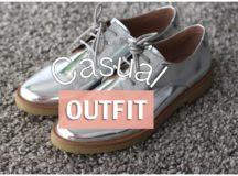 CASUAL OUTFIT con zapatos plateados