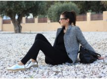 Outfit: blanco y negro