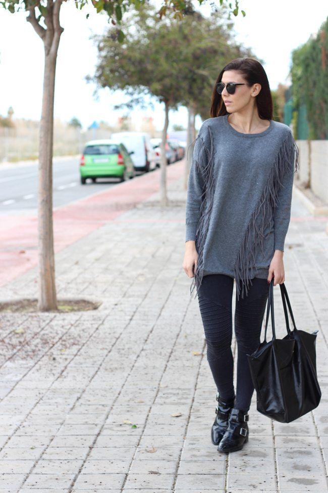 Outfit flecos grises sheinside