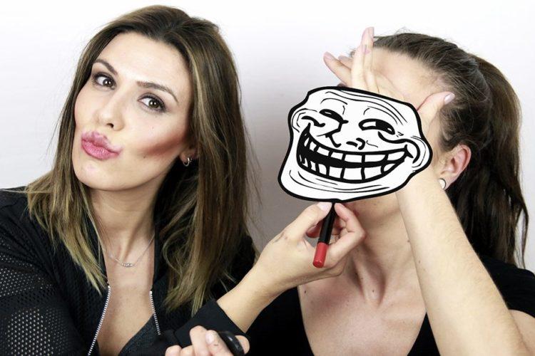 Maquillaje a ciegas con Esbatt