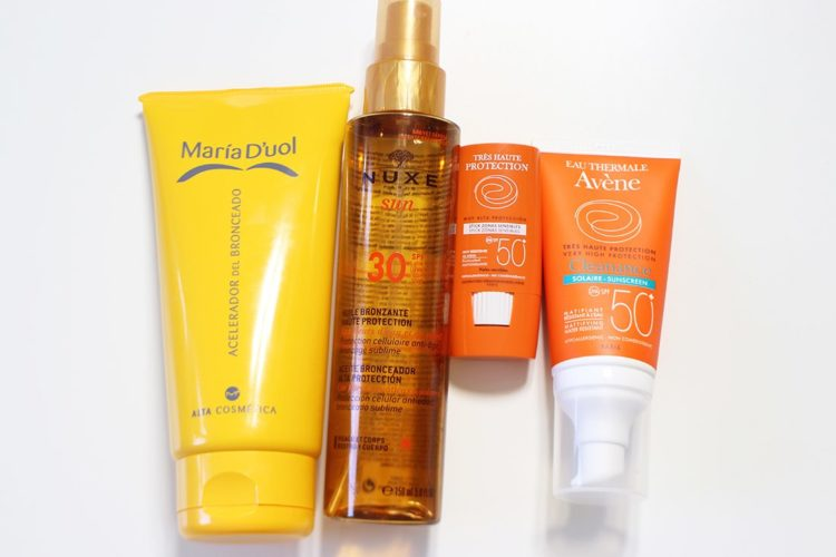 Productos para broncear mi piel
