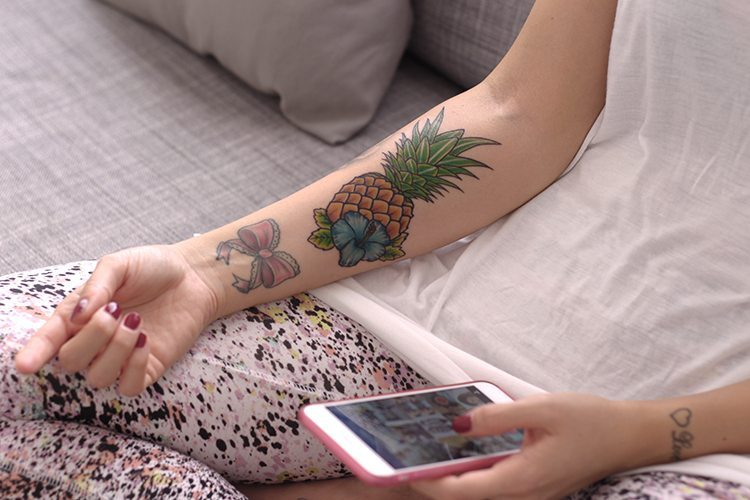 TATTOO: una piña hawaiana