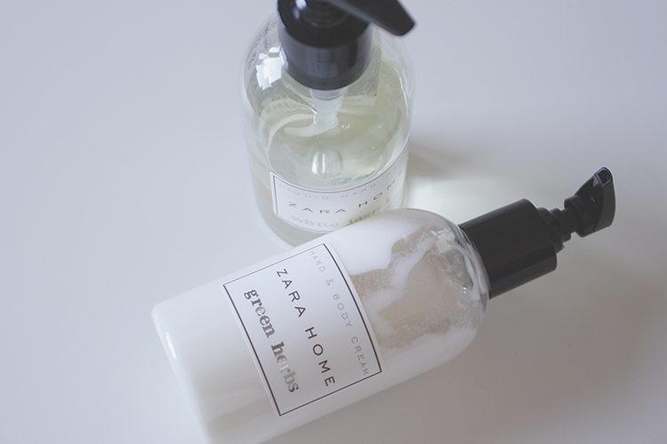 ZARA HOME: liquid hand wash & hand cream
