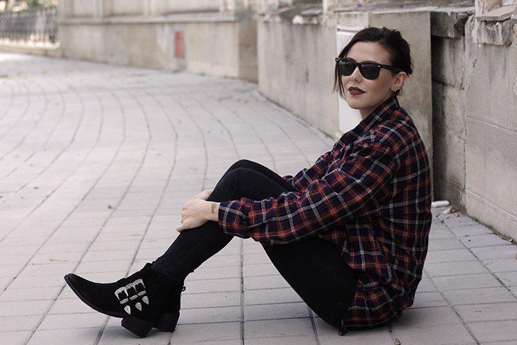 MODA: camisa de cuadros oversize