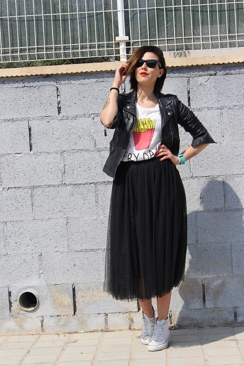 Falda tipo tutu moda aishawari