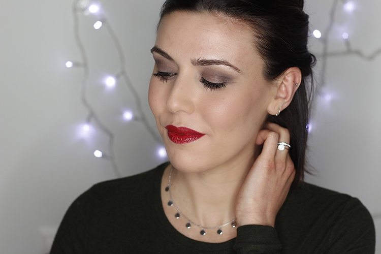 Maquillaje glamouroso + outfit