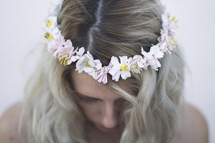 Corona de flores verano
