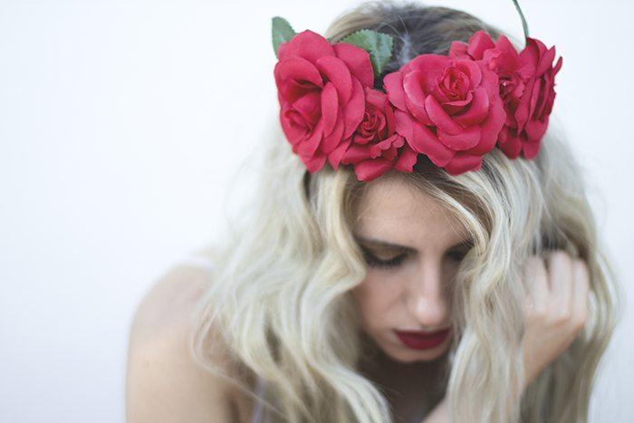 Moda corona de flores