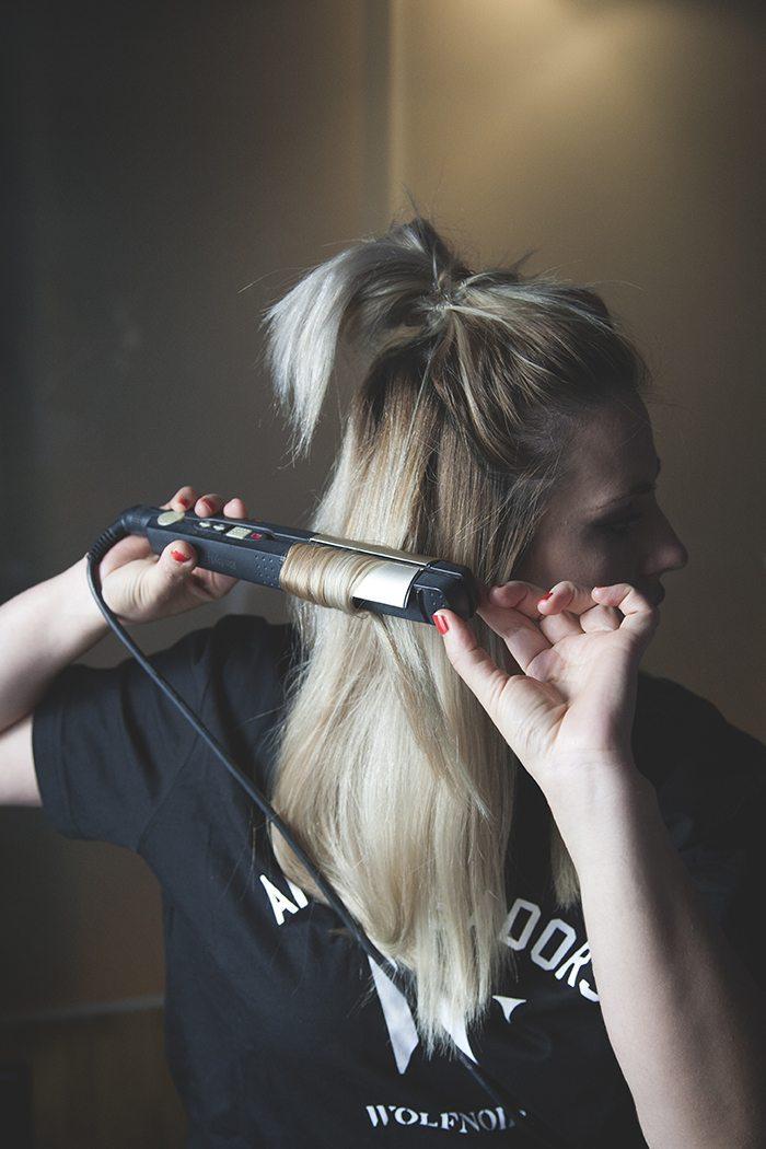 Peinado con ondas sencillo