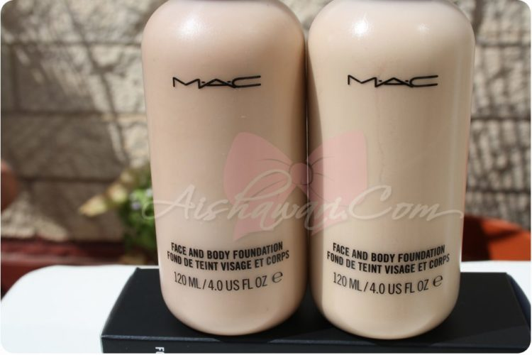 Maquillaje: Face and Body C2 y C3 MAC