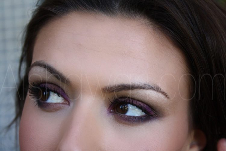 Maquillaje Golden Purple