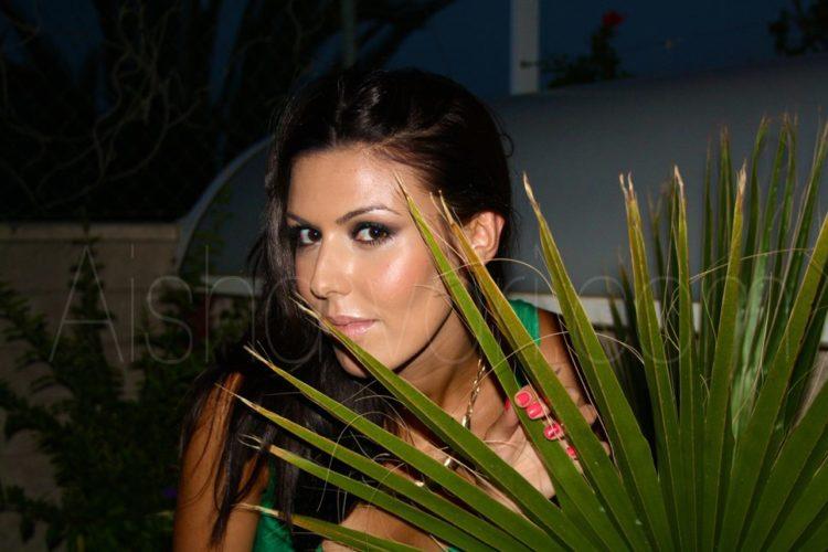 Fotos del maquillaje verde de noche