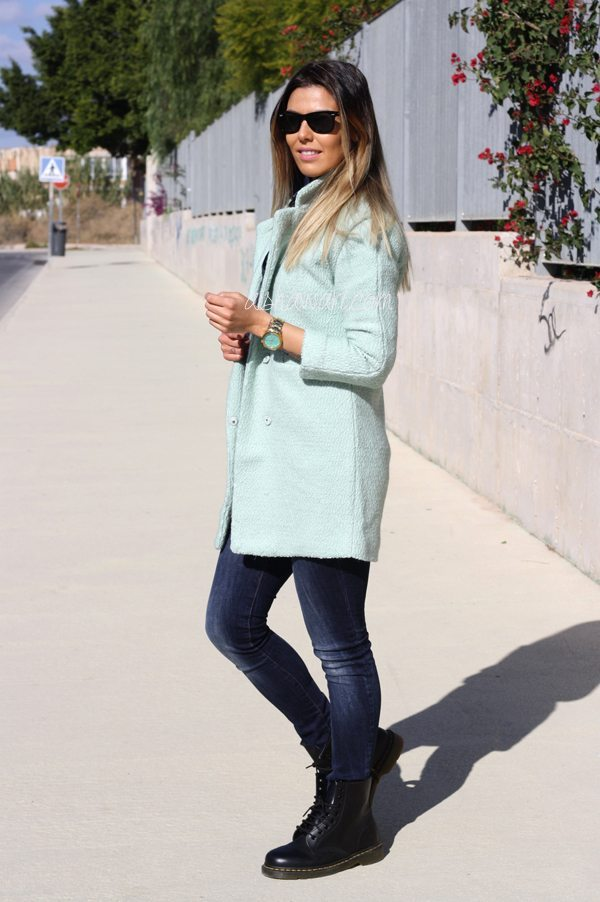 Sheinside mint coat