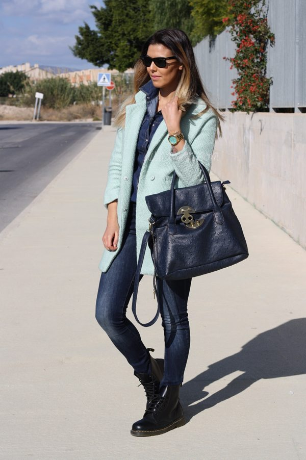 Sheinside mint coat2
