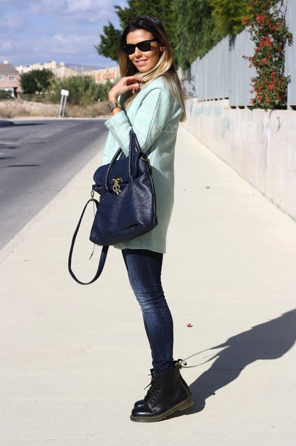 Sheinside mint coat3